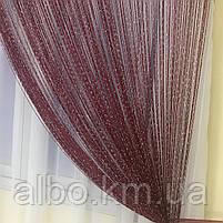 Нитяні штори блискучі в дитячу кімнату кухню, штори нитки для залу кухні квартири, штори нитки в зал кімнату спальню вітальню, фото 4