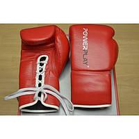 Перчатки боксерские Power Play 8oz, красные, кожа.