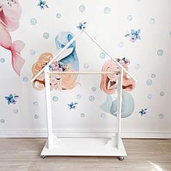 Дитячий підлоговий гардероб білий KR104