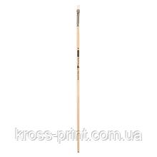 Кисть синтетика, Creamy 6973, плоская, № 6, длинная ручка, ART Line