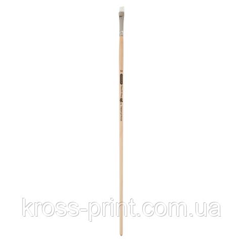 Кисть синтетика, Creamy 6973, кутова, № 1/4, довга ручка, ART Line
