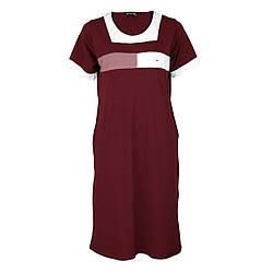 Жіноче плаття для дому р. 2XL-5XL DI Color №6508 бордове