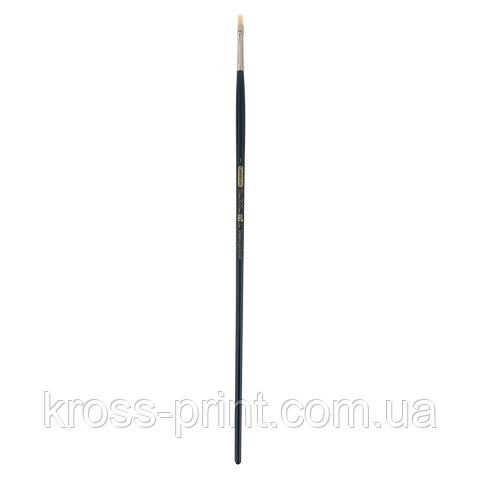 Кисть синтетика, Ocean 6974, плоская, № 1, длинная ручка, ART Line
