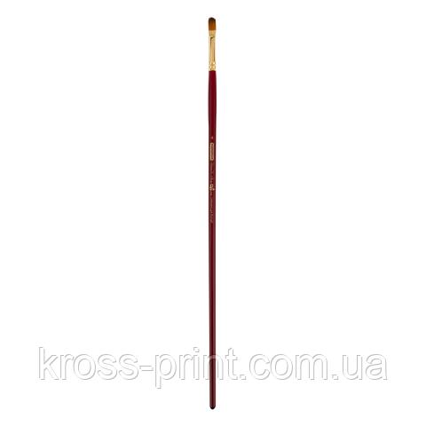 Кисть синтетика, Cherry 6971, овальная, №4, длинная ручка, ART Line