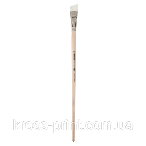 Кисть синтетика, Creamy 6973, кутова, №5/8, довга ручка, ART Line