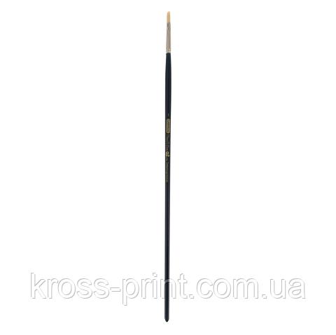 Кисть синтетика, Ocean 6974, овальная,№ 1, длинная ручка, ART Line
