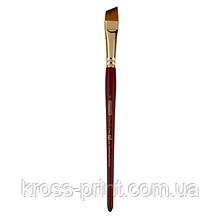 Кисть синтетика, Cherry 6970, угловая, № 6, короткая ручка, ART Line