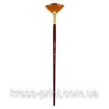 Кисть синтетика, Cherry 6971, веерная, № 10, длинная ручка, ART Line