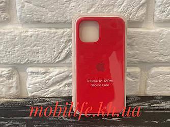 Чохол Silicon Case iPhone 12,12 Pro/Червоний/