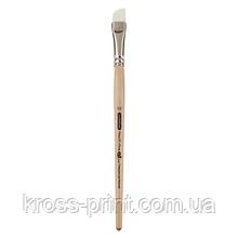 Кисть синтетика, Creamy 6972, угловая, № 1/2, короткая ручка, ART Line