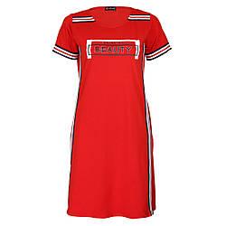 Жіноче плаття для дому р. M-2XL DI Color №6460, червоне
