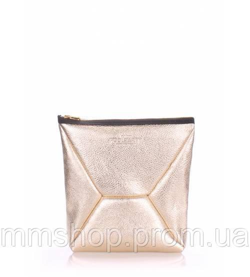 Клатч женский кожаный POOLPARTY The X золото, фото 1