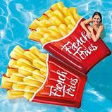 Надувний пліт матрац intex КАРТОПЛЯ ФРІ 175x132 см пляжний для басейну і плавання 58775, фото 2