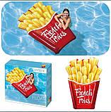 Надувний пліт матрац intex КАРТОПЛЯ ФРІ 175x132 см пляжний для басейну і плавання 58775, фото 4