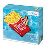 Надувний пліт матрац intex КАРТОПЛЯ ФРІ 175x132 см пляжний для басейну і плавання 58775, фото 8