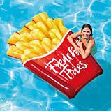 Надувний пліт матрац intex КАРТОПЛЯ ФРІ 175x132 см пляжний для басейну і плавання 58775, фото 10