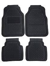 Килимки автомобільні ОПТОМ. Універсальні килимки в салон автомобіля (комплект 4 шт.) Чорний. 6977