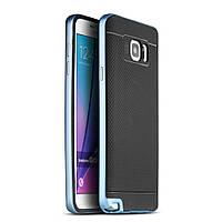 Чехол накладка IPAKY TPU + бампер PC для Samsung Galaxy Note 5 N920 голубой