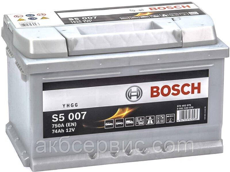 Аккумулятор автомобильный Bosch 6СТ-74 S5 Silver Plus (S50 070)