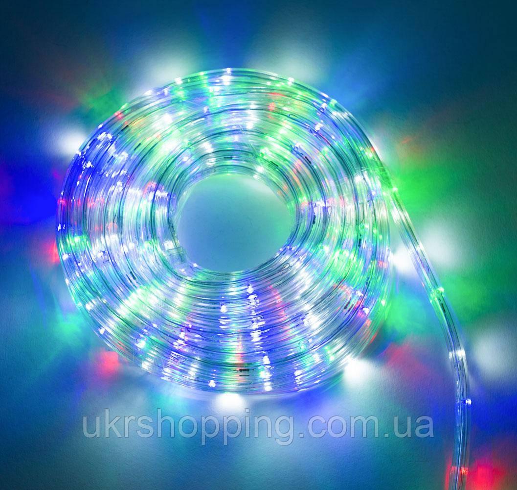 Вулична гірлянда дюралайт на 8 метрів, Різнокольорова, LED гірлянда на вулицю   новогодние гирлянды на улицу