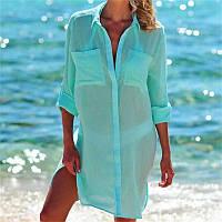 Стильна пляжна туніка-сорочка