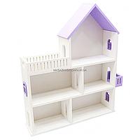 Игрушечный кукольный деревянный домик Мария Unitywood, домик для кукол LOL, фиолетовый, 62*55*13 см, (maria