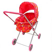 Коляска игрушечная для кукол «Кляксы» Melogo, розовый, 62*65*35 см, (9308)