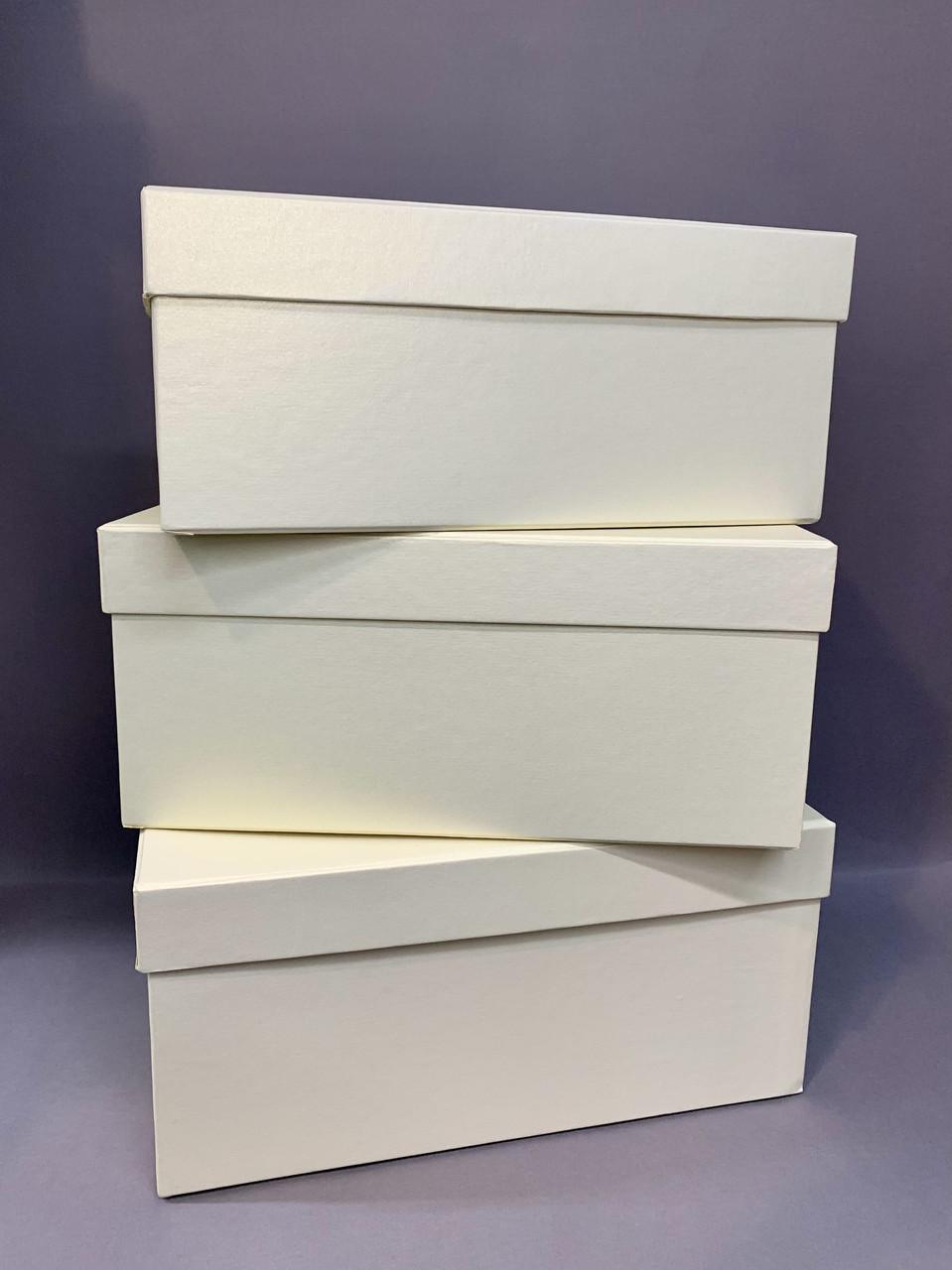 Коробка прямоугольная (крем перламутр)