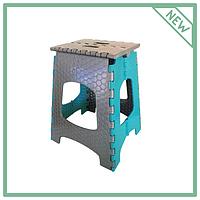 Стул раскладной пластиковый для сада Инструмент МП, бирюзовый (высота 447,5 мм) CT-003-RO