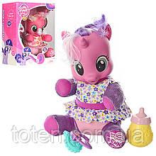 Конячка поні My Little Pony 20 см м'яконабивна, звук, світло, аксесуари 66241