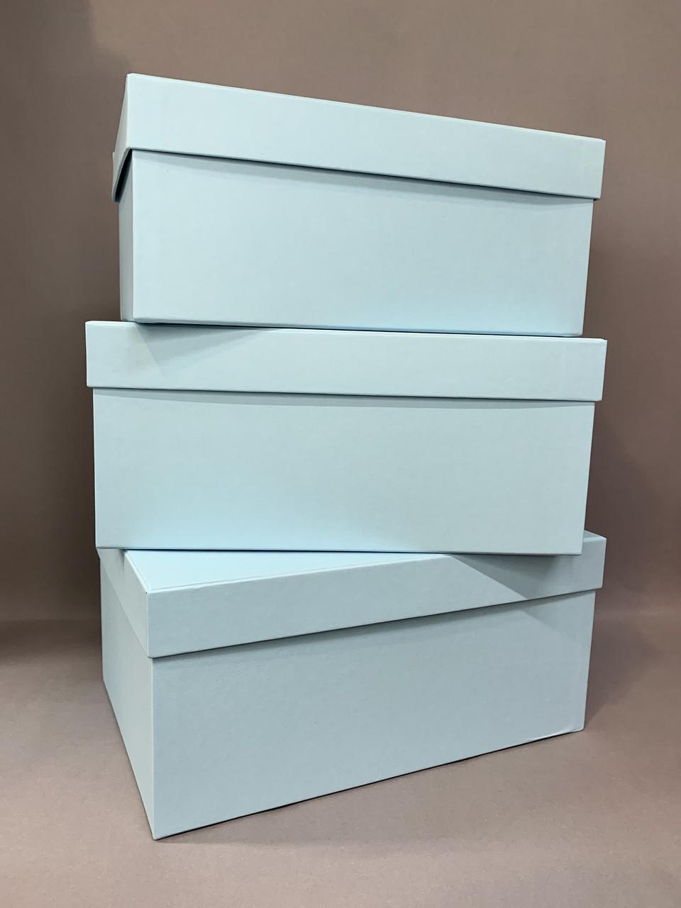 Коробка прямоугольная (голубой мат)