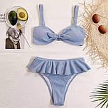 Голубой раздельный купальник, фото 2
