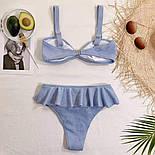 Голубой раздельный купальник, фото 4