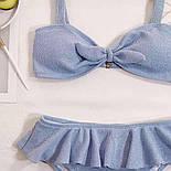 Голубой раздельный купальник, фото 3