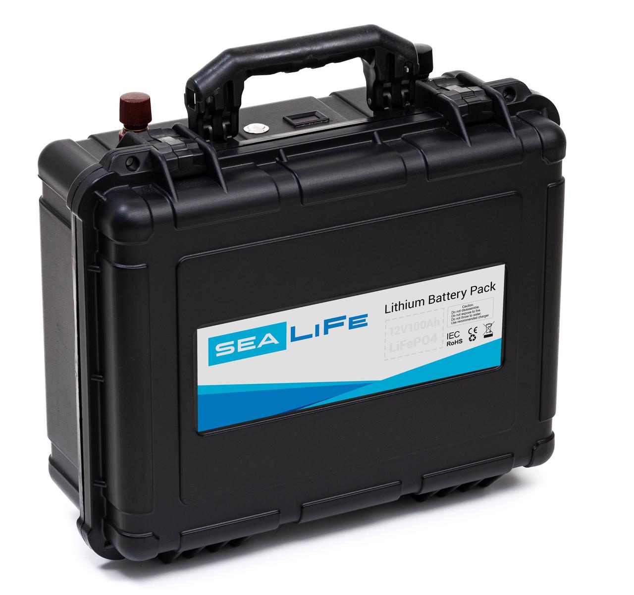 Літієвий акумулятор 12В LiFePO4 80Ач Challenger Sealife 12-80