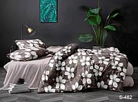 Двуспальный комплект постельного белья с цветами, Сатин-люкс