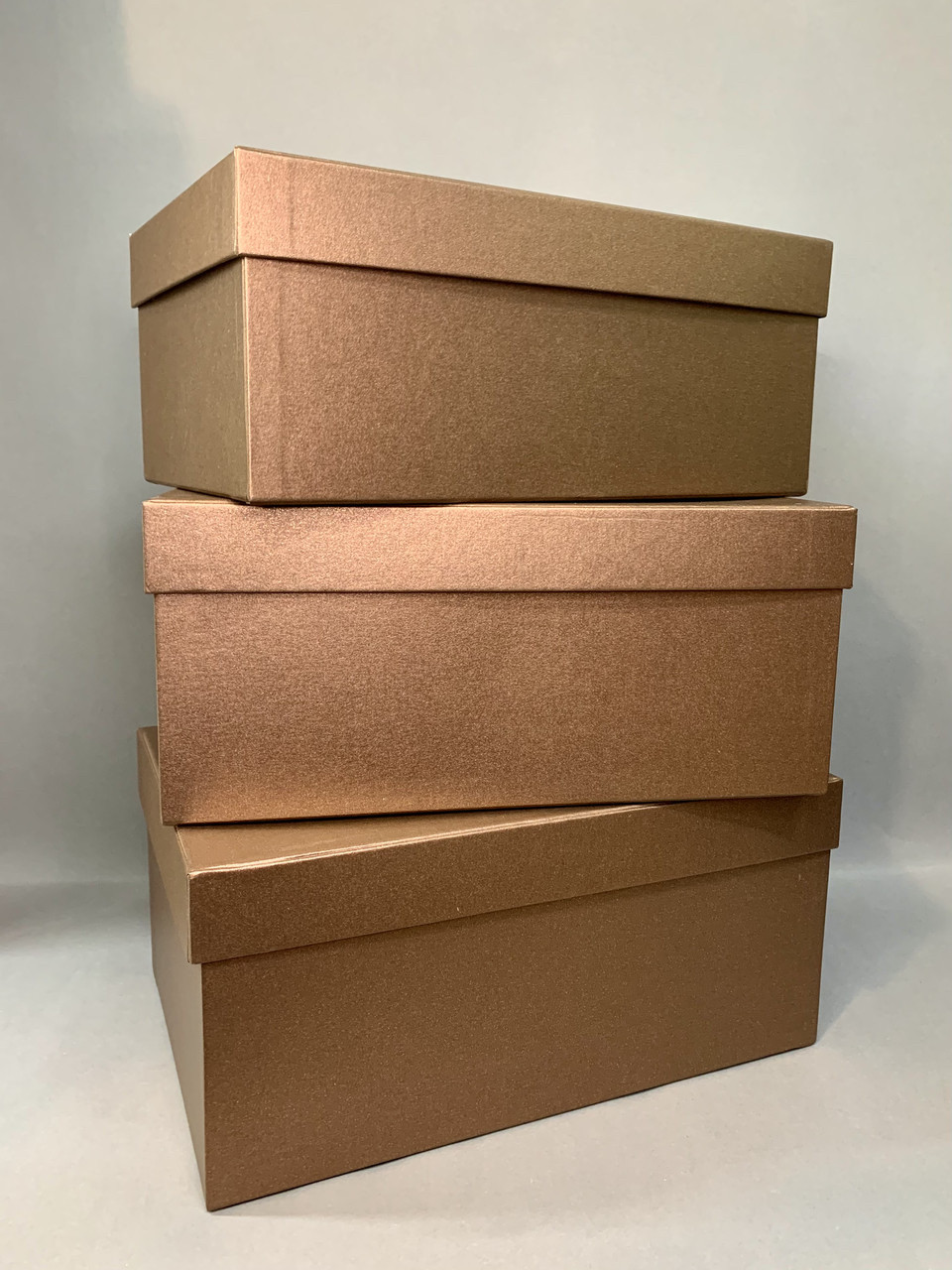 Коробка прямоугольная (коричневый перламутр)