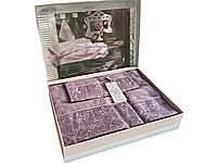 Набор полотенец Maison D'or Rose Marine Dark Lilac бамбуковые 30-50 см,50-100 см,85-150 см фиолетовые