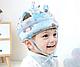 Детский шлем противоударный  Розовый со слониками, фото 4