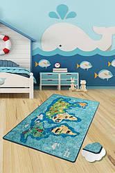 """Коврик детский  """"Карта мира 2""""  200х290см."""