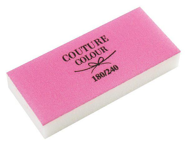 Пилка баф бело розовая 180/240 Couture Colour