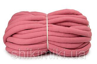 Трикотажный шнур с наполнителем Little Cloud, цвет Пыльная роза