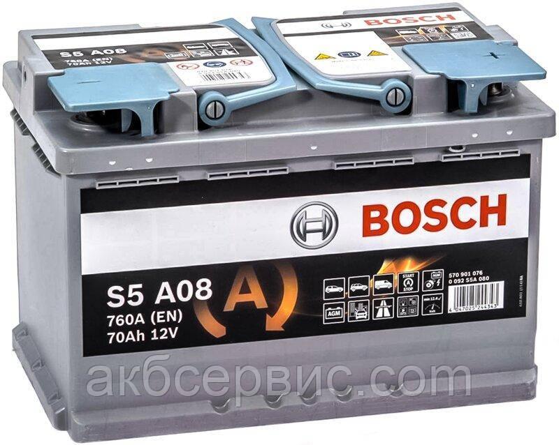 Акумулятор автомобільний Bosch 6СТ-70 S5A AGM (S5A 080)