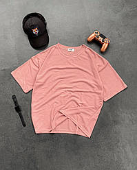 Мужская футболка розового цвета