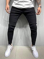 Мужские зауженные джинсы черного цвета