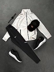 Спортивный костюм Найк бело-черного цвета