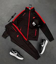 Спортивный костюм Найк черно-красного цвета