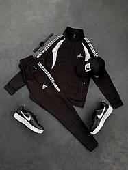 Спортивный костюм Адидас черного цвета