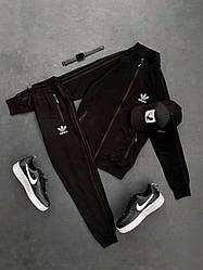 Спортивный костюм черного цвета Адидас