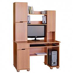 """Комп'ютерний стіл """"Олімп - ДСП"""" від Летро (с. венге) 125см"""